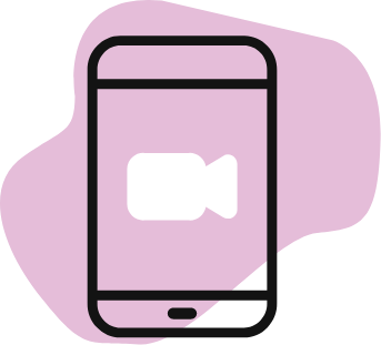 smart phone with video call icon